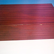 A Nineteenth Century Mahogany Blanket Box