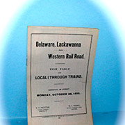 1895 public timetable Delaware, Lackawanna & Western Railroad