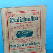 February 1875 Official Railroad Guide