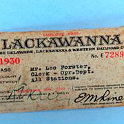 Delaware, Lackawanna & Western 1930 Pass