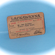 Delaware, Lackawanna & Western 1939 Pass