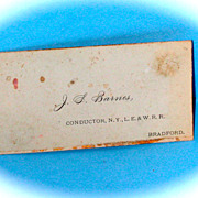 New York lake Erie & Western Railroad Conductors Card