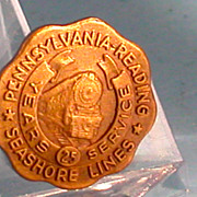 Pennsylvanian Reading Seashore Lines Service Pin