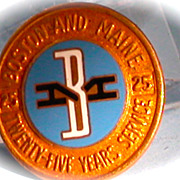 Boston & Maine Railroad Lapel Service Pin