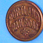 Portland Railroad Brass Uniform Button