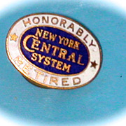 New York Central Retirement Lapel Pin