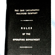 Erie-Lackawanna Railroad 1964 Book of Rules