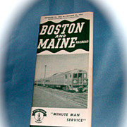 Boston & Maine Railroad Public Timetable.