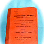 Canadian National Railways General Instruction Booklet