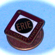 Erie Railroad Veterans Assoc. Lapel Pin