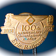 Erie Railroad Centennial Pin