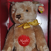 "SOLD STEIFF Bear   1993 ""Musical Teddy ""  Replica 1951 in Original Box 3144/7000"