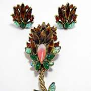 Florenza Brooch & Earrings Set