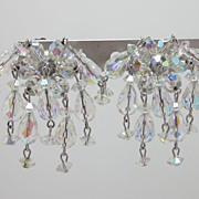 Sherman 7 Strand Cluster Clip On Earrings