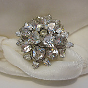Sparkling  Rhinestone Brooch With Hearts