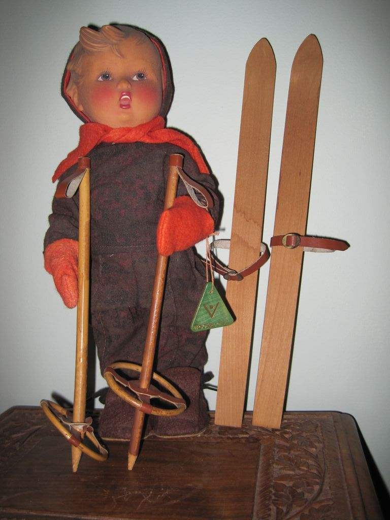 Vinyl Hummel Skier Doll in original box