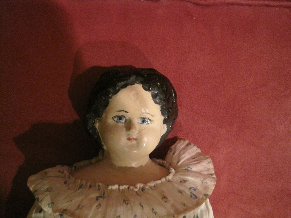 ANTIQUE  Greiner Papier--Mache Doll in very good  condition