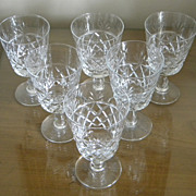"Set of Royal Brierley Cut Crystal ""BRUCE"" Footed Tumblers Glasses SET"