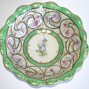 Antique hand painted Porcelain Bowl - Little Bo Peep