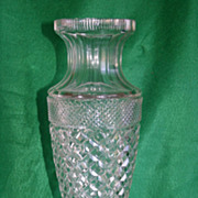 "Massive Huge Cut Crystal Eurydice style Vase - 17"" tall"