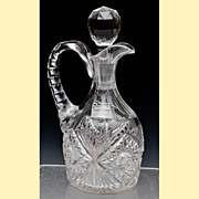 Libbey Cut Glass Cruet - Corinthian Pattern