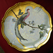 Limoges &quot;Bird of Paradise&quot; Platter Charger Tray