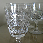 "Set of Royal Brierley BRUCE 4-7/8"" Wine Goblet Glasses"