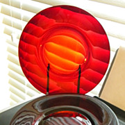 Ruby Depression Glass Plates - 5