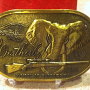 Rare Weatherby Brass Gun Buckle
