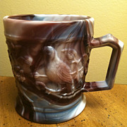 SALE Imperial Purple Slag Robin Mug