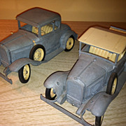 Lot of Two Vintage Hubley Kit Metal Cars