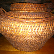 SALE Beautifully Woven Rare Snake Charmers Basket