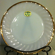 "8 Anchor Hocking Fire King 7 1/2"" Sandwich Plates 22K Gold Trimmed"