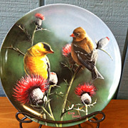 "1987 Edwin Knowles  8 1/2"" The Goldfinch Collectors Plate"