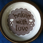 Handmade Crystal Creek Pottery Baked With Love Pie Plate