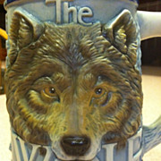 The Wolf  Beer Stein Mug  By Tom O'Brien  Made In Brazil Ceramarte