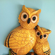 Vintage Homco Owl Wall Plaque Dated MCMLXXV 1975