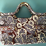 SOLD Vera Bradley Gabby handbag Purse Tote Retired Pattern Slate Blooms