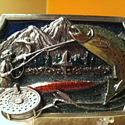 1983 Siskiyou Fly Fishing Belt Buckle Rainbow Trout