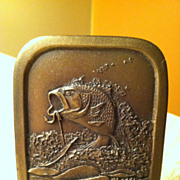 1976 Indiana Metal Craft Fish Belt Buckle