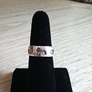 Sterling Easter Rabbit Band Ring Size 7 1/2