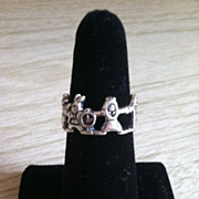 Sterling Character Rabbit Family Ring Size 6 1/4