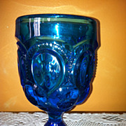 LG Wright LE Smith Moon & Star Goblet Colonial Blue