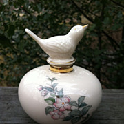 Lenox Serenade Bird Perfume Bottle USA Made