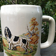 McCoy Adorable Cocker Spaniel  Dog Vintage Mug Stein USA Made
