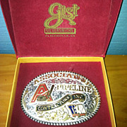 Like New Gist Custom Texas Pipeline Contractor Belt Buckle In Box
