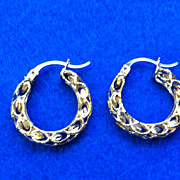 SOLD Vintage Estate Marked 10 Karat Gold Hoop Earrings 2.7 Gram Weight