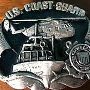 1982 Bergamot U.S. Coast Guard Military Belt Buckle Pewter