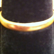 SALE Estate Marked 14 K Gold Wedding Band Ring Size 10 1/4