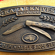 Vintage Kabar Knives Knife  Belt Buckle New York